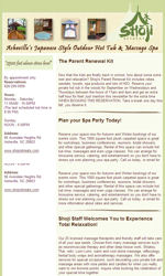 Massage Email Newsletter Template for Email Marketing