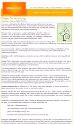 Green Business Email Newsletter Template for Email Marketing