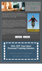 Fitness Tip Email Newsletter Template for Email Marketing