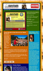 Frame Right Column Email Newsletter Template for Email Marketing