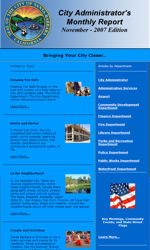 My Newsletter Builder Examples For GovernmentPolitics Email - Monthly email newsletter template