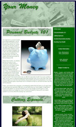 Personal Finance Email Newsletter Template for Email Marketing