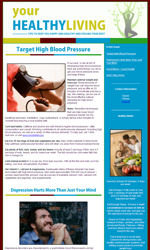 Healthy Living Email Newsletter Template for Email Marketing