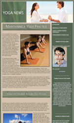 Yoga News Email Newsletter Template for Email Marketing