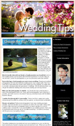 Wedding Tips Email Newsletter Template for Email Marketing