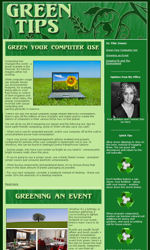 Green Tips Email Newsletter Template for Email Marketing