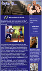 Staying Fit Email Newsletter Template for Email Marketing