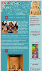 Healing Arts Email Newsletter Template for Email Marketing