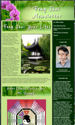 Feng Shui Email Newsletter Template for Email Marketing