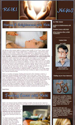 Reiki Email Newsletter Template for Email Marketing
