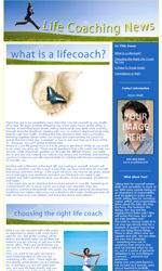 Life Coach Email Newsletter Template for Email Marketing