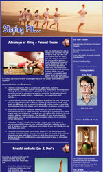 Fitness News Email Newsletter Template for Email Marketing
