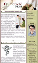 Chiropractic Email Newsletter Template for Email Marketing