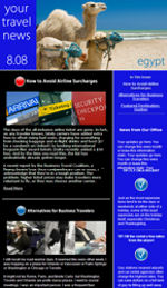 Travel Email Newsletter Template for Email Marketing