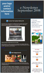 Lifestyle Email Newsletter Template for Email Marketing