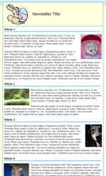 Easter Email Newsletter Template for Email Marketing