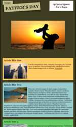 Father's Day Email Newsletter Template for Email Marketing