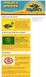Restaurants Email Newsletter Template for Email Marketing