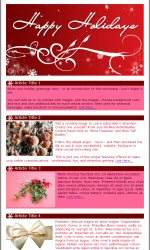 My newsletter builder examples for holiday templates email happy holidays email newsletter template for email marketing pronofoot35fo Images