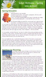 My newsletter builder examples for health wellbeing email mnb for Spring newsletter template