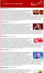 Valentine 1 Email Newsletter Template for Email Marketing