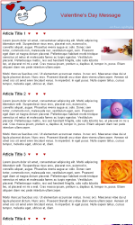 Valentine 2 Email Newsletter Template for Email Marketing